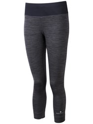 Ronhill Momentum Victory Cropped Running Tights Grey