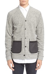 Junya Watanabe French Terry Cardigan Heather Grey