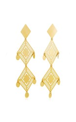 Paula Mendoza Kambiru Gold Plated Brass Earrings