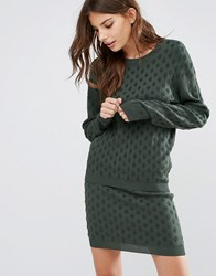 Y.A.S Ginger Knit Pullover Co Ord Garden Topiary Green