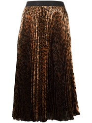 Christopher Kane Sunray Pleated Skirt Brown