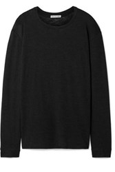Frances De Lourdes Marlon Slub Cashmere And Silk Blend Top Black