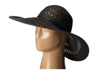 San Diego Hat Company Pbl3068 Open Weave Floppy Hat With Self Tie Black Caps