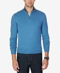 Nautica Men's Quarter Zip Sweater Burlington Heather