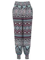 Izabel London Multi Tribal Print Trousers Pink
