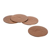 The Just Slate Company Flat Hammered Copper Coasters Set Of 4