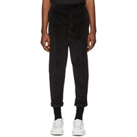 Ami Alexandre Mattiussi Black Oversized Carrot Fit Trousers