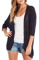 Michael Stars Women's Three Quarter Sleeve Cardigan