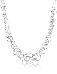 Orlando Orlandini Scintille Anniversary Diamond 18K White Gold Chain Necklace