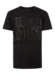 Topman Aaa Black Burnout Panel Oversized T Shirt