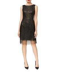 Betsey Johnson Embroidered Sheath Dress Black