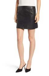 Cupcakes And Cashmere Marrie Leather Miniskirt Black