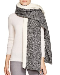 Yarnz Dual Knit Oversized Wool Scarf Black