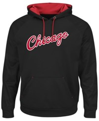 Majestic Men's Chicago Bulls Armor Ii Hoodie Black Red