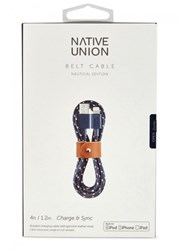 Native Union Belt Navy Lightning Charging Cable