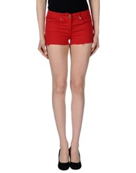 Elisabetta Franchi Jeans Denim Shorts Red