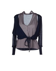 Devotion Knitwear Cardigans Women Dark Blue