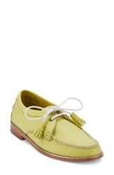 G.H. Bass Women's And Co. 'Winnie' Leather Oxford Lemon Lime Leather