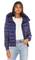 Soia And Kyo Tiphanie Puffer Jacket In Blue. Lapis