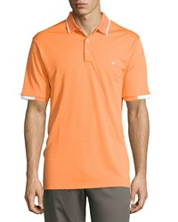 Callaway Ottoman Striped Polo Shirt Carrot