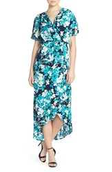Women's Fraiche By J Floral Print Woven High Low Maxi Dress