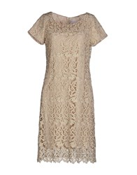 Almost Famous Dresses Knee Length Dresses Women Beige