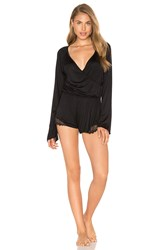 Only Hearts Club Venice Long Sleeve Playsuit Black