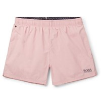 Hugo Boss Short Length Embroidered Shell Swim Shorts Pink