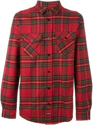 Les Artists Les Art Ists 'Fashion Killa' Plaid Shirt Red