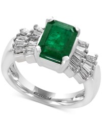 Effy Brasilica By Emerald 2 1 5 Ct. T.W. And Diamond 5 8 Ct. T.W. Ring In 14K White Gold