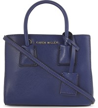 Karen Millen Investment Small Leather Tote Blue