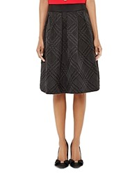 Ted Baker Mansii Checked Texture Skirt Black