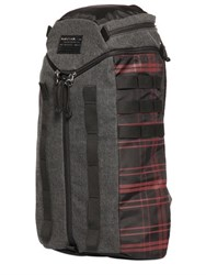 Diesel Denim And Plaid Nylon Backpack