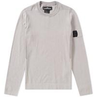 Stone Island Shadow Project Crepe Cotton Crew Knit Grey