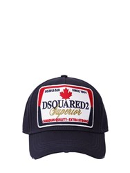 Dsquared Superior Patch Cotton Canvas Baseball Navy