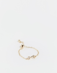 Asos Limited Edition Adjustable Fine Chain Bow Ring Gold