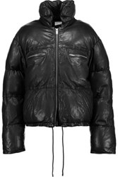 Etoile Isabel Marant Breyson Quilted Leather Down Coat Black