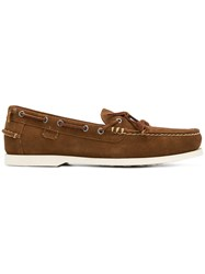 Polo Ralph Lauren Lace Detail Loafers Brown