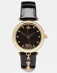 Vivienne Westwood Time Machine Black Charm Watch Vv108bkbk