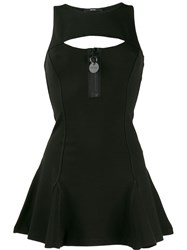 Diesel Flouncy Knit Dress With Cut Out Back Black