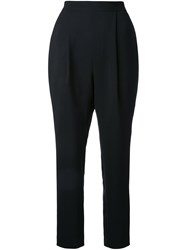Enfold Pleated Tapered Trousers Black