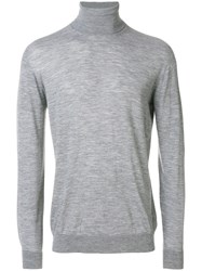 Nuur Roll Neck Jumper Men Merino 48 Grey
