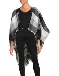 Collection 18 Plaid Wrap White