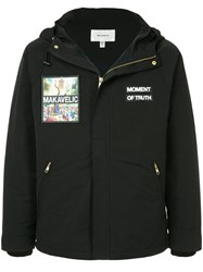 Makavelic Jesus Mountain Parka Jacket Black