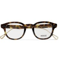 Moscot Lemtosh Round Frame Tortoiseshell Acetate And Gold Tone Optical Glasses Tortoiseshell