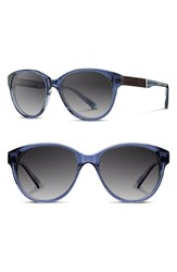 Women's Shwood 'Madison' 54Mm Polarized Sunglasses Blue Ebony Grey Polar