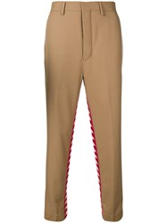 Kappa Side Stripe Tapered Trousers Nude And Neutrals