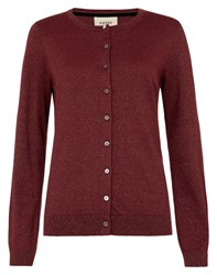 Havren Lurex Cardigan Red