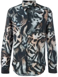 Paul Smith Ps By Tiger Print Shirt Multicolour