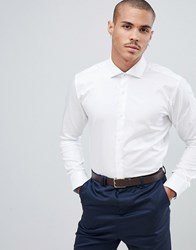 Ted Baker Shirt With Stretch In White